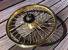 "BICYCLE 16"" REAR WHEEL GOLD W/52 SPOKES COASTER BEACH CRUISER LOWRIDER BMX"