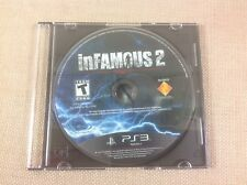 PlayStation 3 inFamous 2 Mint Game Disc FREE Shipping PS3