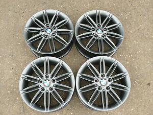 """4x GENUINE BMW REFURBISHED ALLOY WHEELS 17"""" E46 E81 E82 E85 E87 E88 F20 F22"""