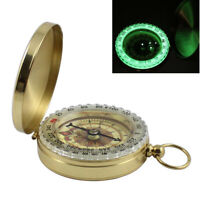 Pocket Brass Watch Style Military Army Luminous Compass Outdoor Camping Hiking