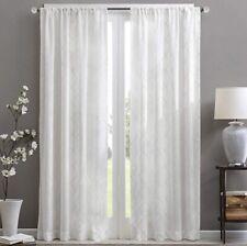 "Madison Park Clarissa Diamond Sheer Curtain White 50 x 84"" 1 Panel"