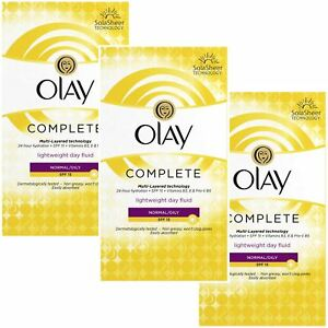 3 Olay 3-In-1 Lightweight Day Fluid Normal-Oily Skin SPF15 Complete Care 100ml