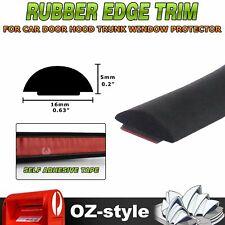 Solid Rubber Edge Seal Trim D Shape Cars Window Door Protective Waterproof 4.5M
