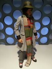 "4TH DOCTOR WHO FOURTH DR TOM BAKER HAT SCARF GREY LONG COAT CLASSIC 5"" FIGURE"