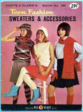 Coats Clark 165 Teen Fashions Sweaters Accessories Stockings Snood Patterns 1966