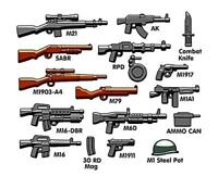 BrickArms Vietnam Army Weapons Military Pack designed for LEGO Minifigure