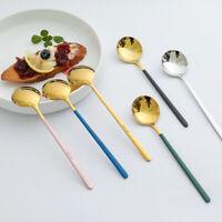 Stainless Steel Spoon Porridge Soup Home Dessert Ice Cream Long Handle Spoon 1PC