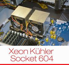 COOLER/KÜHLER/LÜFTER CPU INTEL XEON SOCKET 604 ALU ALUCOOLER MASSIVPLATTE OK!