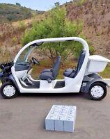 QTY 6: 12V 12 Volt GEL Golf Cart Battery for Chrysler GEM Polaris E2 E4 E6