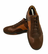 ECCO Mens Size 43 EUR 10 US Sneakers Brown Orange Suede Lace Up Shoes Sneakers