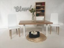 dollhouse furniture lot 1:12 Modern Mcm Dining Room Set Miniatures Accessories