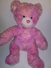 "Build A Bear Pink Heart Gem Bear  16"" Plush Stuffed Animal"