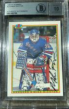 1990-1991 Bowman #218 Mike richter Rookie Card w/ Autograph