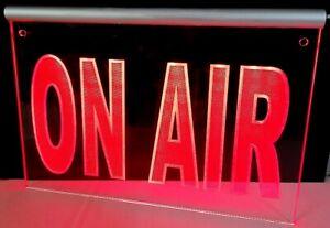 LED Leuchtschild ON AIR oder dein Text personalisiert onair Radio TV stream live