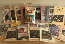 Lot of 20 Fabric Craft Pattern Items For Dolls, Animals, Purses, Ornaments etc.