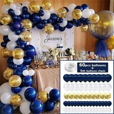 Navy Blue Latex Balloons Arch Confetti Balloons for Birthday Party Wedding Decor