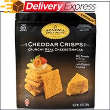 Sonoma Creamery Cheese Crisps - Cheddar Savory Cheese Cracker Snack, 10 oz