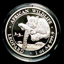 Somalia Leopard 2020 Silber 1 Unze OZ Onza Silver Coin  African Wildlife 999