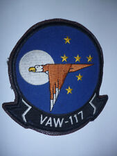 """US NAVY VAW-117 CARRIER COMMAND AND CONTROL SQN 117 """"THE WALL BANGERS"""" PATCH."""
