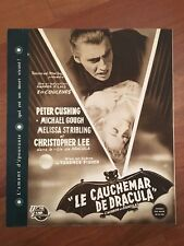 BROCHURE,1958,DRACULA IL VAMPIRO HORROR OF,CHRISTOPHER LEE,FISHER HAMMER FILMS