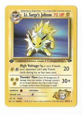 Pokemon Lt. Surge's JOLTEON 28/132 1e edition Rare Gym Challenge Wizard Anglaise