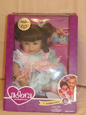 "Adora Dolls PIECE OF CAKE 20"" BABY Toddler Doll Brunette Hair Blue Eyes Birthday"