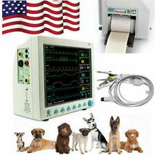 Veterinary Patient Monitor Cms8000 Vet Ecg Nibp Spo2 Pr Temp Resp With Printer