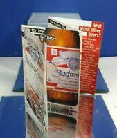 1996 BUDWEISER ADVERTISING BAR TABLE INFO CARD