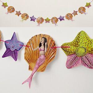Mermaid Sea Shell Garland Bunting Party Vintage Pin Up