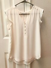 NWT LOFT CREAM OFF WHITE FLUTTER SLEEVE TOP LINED XS