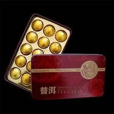 2011 yr Mini Puer Tuocha Gold Tin Foil Packing Ripe Puerh Shu Pu'er Tea Gift 75g