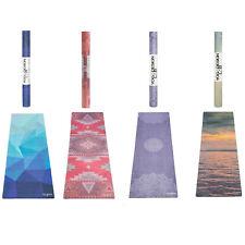 Laboratorio de diseño de yoga viaje súper ligero de la superficie de microfibra plegable esterilla para yoga