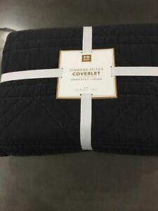pottery barn teen diamond stitch coverlet twin #943