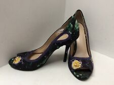 Women's high heel shoes size 8 M purple NINE WEST Shakeitup textile upper F29