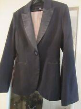 manteau veste blazer smoking H&M EUR 34 US 4 noir et satin