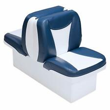 Boat Lounge Seat Blue & White Premium Back To Back Lounger Boating Seats