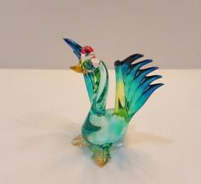 Hand Blown Glass Colorful Swan5 Figurine Art Mini Collectibles Home Decor Gift