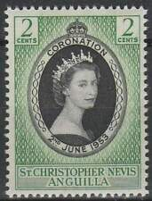 St. Christopher Nevis postfris 1953 MNH 112 - Coronation Elisabeth II (046)
