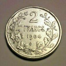 2 Francs Frank 1904 Belgique Belgïe Belgium KM# 58, LA# BFM-115