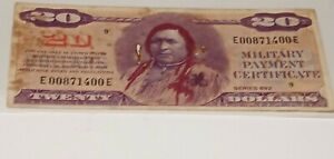 Series 692 $20.00 Military Payment Certificate! Seldom Seen And RARE!