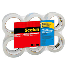 Scotch Heavy Duty Clear Shipping Packaging Tape 1.88 inches x 54.6 Yards 6 Rolls