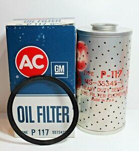AC GM NOS OIL Filter P - 117 #5572425 Chevy GMC Truck Detroit Diesel 1941-62