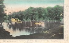 D68/ Weatherly Pennsylvania Pa Postcard Private 1906 Blakslee's Dam Boats Scene