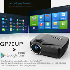 1920x1080P HD Mini Home Projector LED Wireless Bluetooth WIFI Cinema Android 4.4