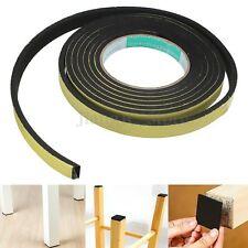 Rectangle Weather Stripping Sponge Foam Rubber Strip Tape Door Seal 3mx15mmx5mm