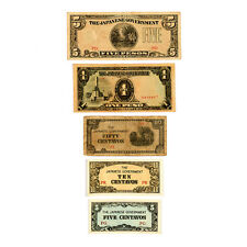 Set of 5 diff. Philippines WW2 Japanese invasion currency  circulated