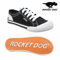 Rocket Dog Womens Casual Black Jazzin Canvas Trainers Lace Up Pumps Sneakers