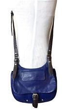 Longchamp Balzane Crossbody Saddle Bag Blue Violet Handbag Purse