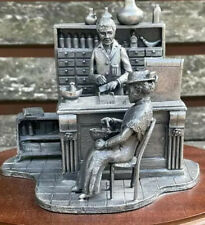 More details for beautiful rare vintage beecham advertising pewter model of a victorian chemist