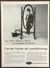 1962 Carrier Air Home Conditioning Ad Groom in Top Hat and Tails in Mirror